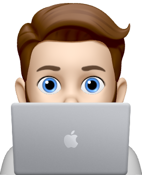 Michael Memoji With Laptop